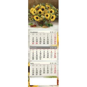kalendarz trójdzielny - SŁONECZNIKI