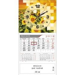 kalendarz jednodzielny - ZEGAR SŁONECZNIKI