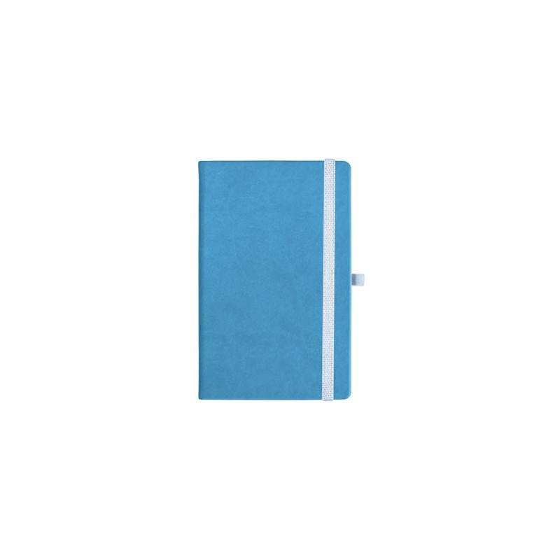 notatnik w linię - KK-NL-A5-CH-N601 JASNONIEBIESKI Gumka 01 BIAŁA