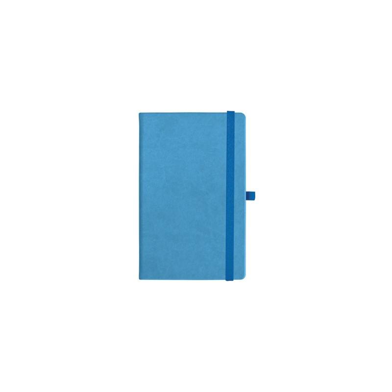 notatnik w linię - KK-NL-A5-CH-N601 JASNONIEBIESKI Gumka 02 NIEBIESKA