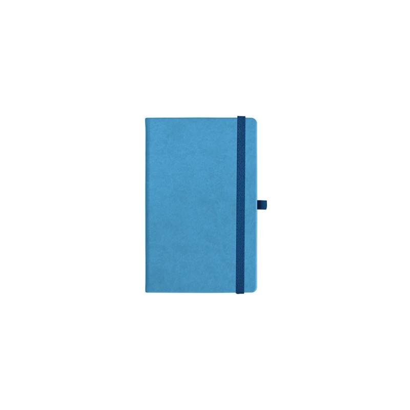 notatnik w linię - KK-NL-A5-CH-N601 JASNONIEBIESKI Gumka 05 GRANATOWA