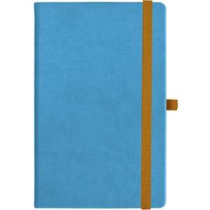 notatnik w linię - KK-NL-A5-CH-N601 JASNONIEBIESKI Gumka 06 POMARAŃCZOWA