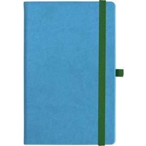 notatnik w linię - KK-NL-A5-CH-N601 JASNONIEBIESKI Gumka 08 ZIELONA