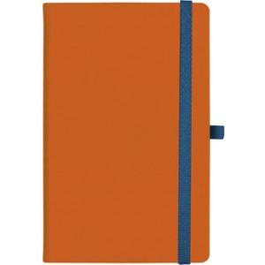 notatnik w linię - KK-NL-A5-CH-N602 POMARAŃCZOWY Gumka 05 GRANATOWA