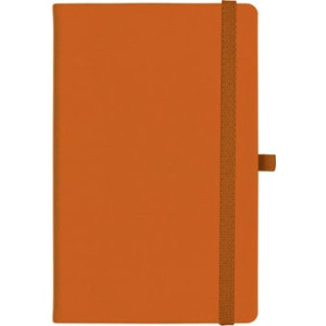 notatnik w linię - KK-NL-A5-CH-N602 POMARAŃCZOWY Gumka 06 POMARAŃCZOWA