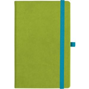 notatnik w linię - KK-NL-A5-CH-N603 JASNOZIELONY Gumka 02 NIEBIESKA