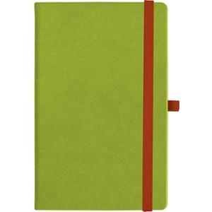 notatnik w linię - KK-NL-A5-CH-N603 JASNOZIELONY Gumka 04 CZERWONA