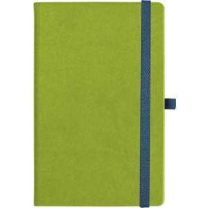 notatnik w linię - KK-NL-A5-CH-N603 JASNOZIELONY Gumka 05 GRANATOWA