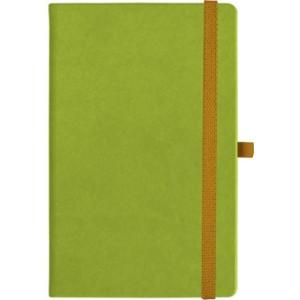 notatnik w linię - KK-NL-A5-CH-N603 JASNOZIELONY Gumka 06 POMARAŃCZOWA