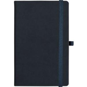 notatnik w linię - KK-NL-A5-CH-N604 CZARNY Gumka 03 CZARNA