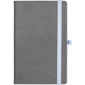 notatnik w linię - KK-NL-A5-CH-N605 SZARY Gumka 01 BIAŁA