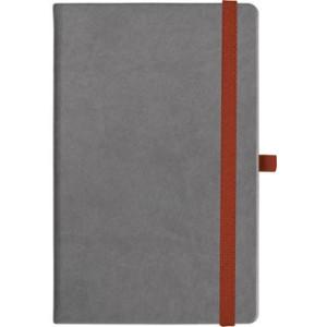 notatnik w linię - KK-NL-A5-CH-N605 SZARY Gumka 04 CZERWONA