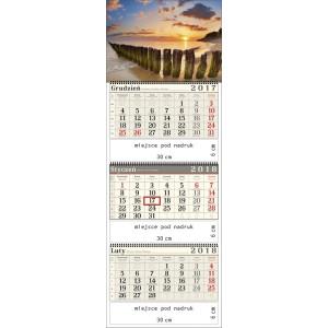 kalendarz trójdzielny-  BAŁTYCKA PLAŻA spiralowany