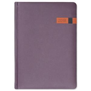 COSMO * A5 dzienna  BORDOWY/ POMARAŃCZOWY kalendarz książkowy