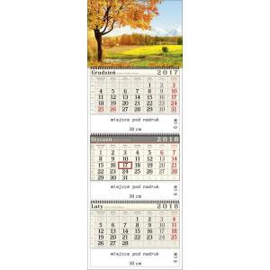 kalendarz trójdzielny-  JESIENNA POLANA spiralowany
