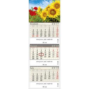 kalendarz trójdzielny-  MAKI I SŁONECZNIKI spiralowany