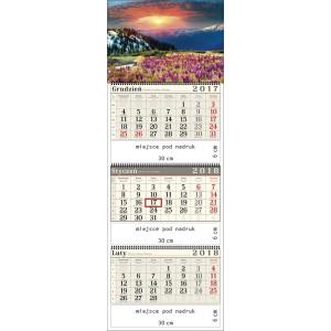 kalendarz trójdzielny- KROKUSOWA POLANA spiralowany