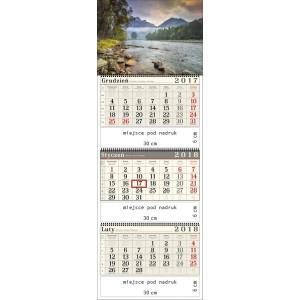 kalendarz trójdzielny- PIENINY spiralowany