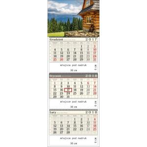 kalendarz trójdzielny- TATRZAŃSKA CHATA spiralowany