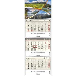 kalendarz trójdzielny- POLSKIE GÓRY spiralowany