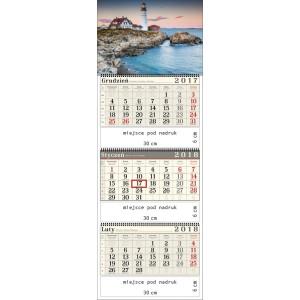 kalendarz trójdzielny- LATARNIA MORSKA spiralowany