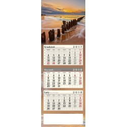 kalendarz trójdzielny - ZACHÓD NA PLAŻY