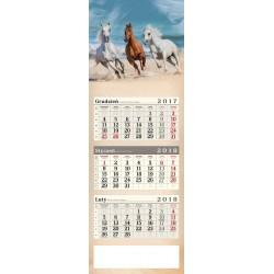 kalendarz trójdzielny - KONIE W GALOPIE