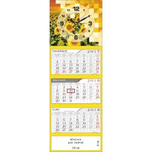 kalendarz trójdzielny - ZEGAR SŁONECZNIKI