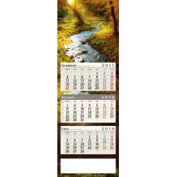 kalendarz trójdzielny - JESIENNY POTOK