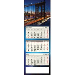 kalendarz trójdzielny - MOST NOCĄ