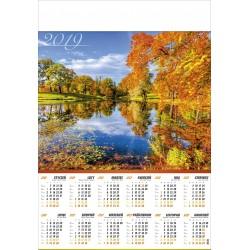 JESIENNE JEZIORO kalendarz B1