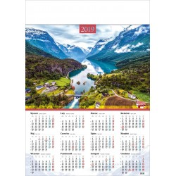 NORWESKI FIORD kalendarz A1