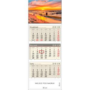 kalendarz trójdzielny- BAŁTYCKA PLAŻA