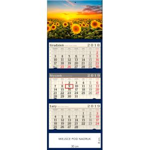 kalendarz trójdzielny- SŁONECZNIKOWE POLE