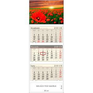 kalendarz trójdzielny- POLE MAKÓW