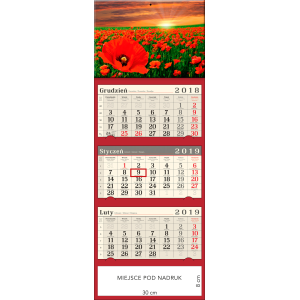 kalendarz trójdzielny- MAKÓW