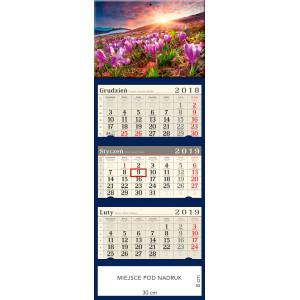 kalendarz trójdzielny- KROKUSOWA POLANA