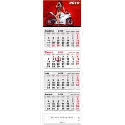 kalendarz czterodzielny - DZIEWCZYNA I MOTOR