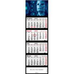 kalendarz czterodzielny - CYBER