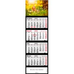 kalendarz czterodzielny - DZIEWCZYNKA