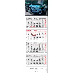 kalendarz czterodzielny - SPORTOWY SAMOCHÓD