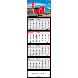 kalendarz czterodzielny - TRUCK