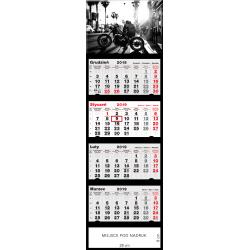 kalendarz czterodzielny - MOTORBIKE