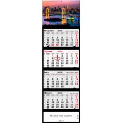 kalendarz czterodzielny - MOST NOCĄ