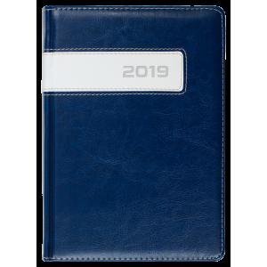 COMBO * A4 dzienny z registrem GRANATOWY / BIAŁY kalendarz książkowy