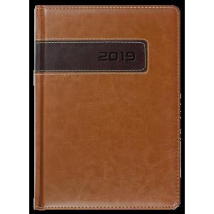 COMBO * A5 dzienny z registrem JASNOBRĄZOWY / BRĄZOWY kalendarz książkowy