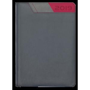 GALAXY * A4 tygodniowa  GRAFITOWY /SZARY/ BORDOWY kalendarz książkowy