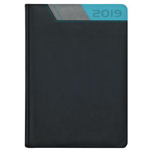 GALAXY * A4 tygodniowa  CZARNY /SZARY/ NIEBIESKI kalendarz książkowy
