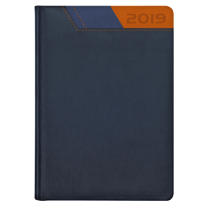 GALAXY * A5 dzienny  GRANATOWY /GRANATOWY/ POMARAŃCZOWY kalendarz książkowy
