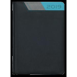 GALAXY * A5 dzienny  CZARNY /SZARY/ NIEBIESKI kalendarz książkowy